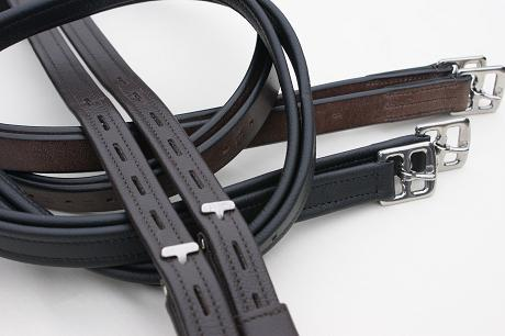 Traditional Stirrup Leathers, Hide Covered Stirrup Leathers and T Bar Dressage Leathers