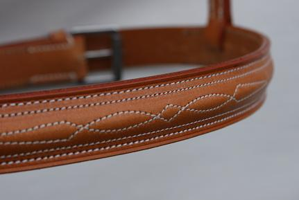 Raised and Fancy Stitched Cavesson Noseband.